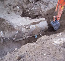 Marigliano: Ritrovata cisterna sotterrata