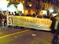 Comitato Allarme Rifiuti Tossici alla fiaccolata del 9 Gennaio