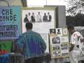 Il presidio informativo sulla violazione dei diritti umani in Eritrea. Nella foto, alcuni dei giornalisti arrestati in Eritrea nel 2001 quando la stampa libera è stata messa al bando.