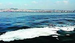 Chiazza nel Golfo di Napoli