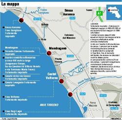 Mappa dei fiumi avvelenati