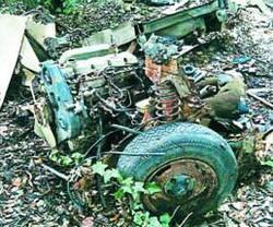 I resti della motozappa Un vecchio motore abbandonato chissà da quanti anni