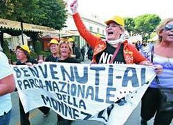 Proteste a Pompe