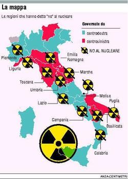 Le Regioni che hanno detto no al nucleare