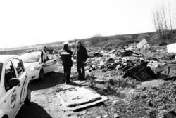 Gli agenti della polizia municipale impegnati in una serie di ispezioni tra via Monte Rosa e cupa Perillo. Si cercano tracce degli sversatoi abusivi di veleni