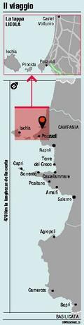 Il viaggio lungo la costa napoletana
