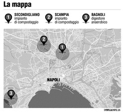 La mappa degli impianti per il trattamento dell'umido
