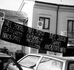 Striscione di protesta