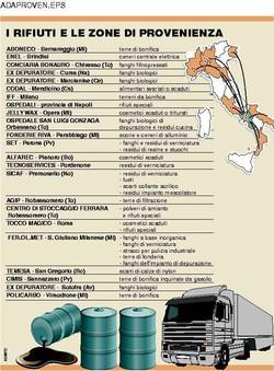 I rifiuti tossici e le zone di provenienza