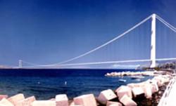 Una simulazione del ponte di Messina