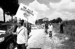 Manifestazione contro l'apertura della Cava Mastroianni