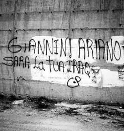 Scritte sul muro contro Giannini