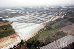 Giugliano, i campi di stoccaggio delle ecoballe circondati da serre e coltivazioni