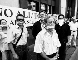 Il presidio dei manifestanti anti-termovalorizzatore