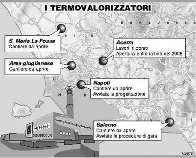I termovalorizzatori previsti in Campania