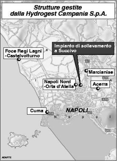 Mappa delle strutture di depurazione