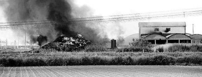 Incendio a Marcianise