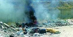 Incendio tossico ad Eboli