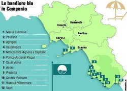 Le bandiere blu in Campania