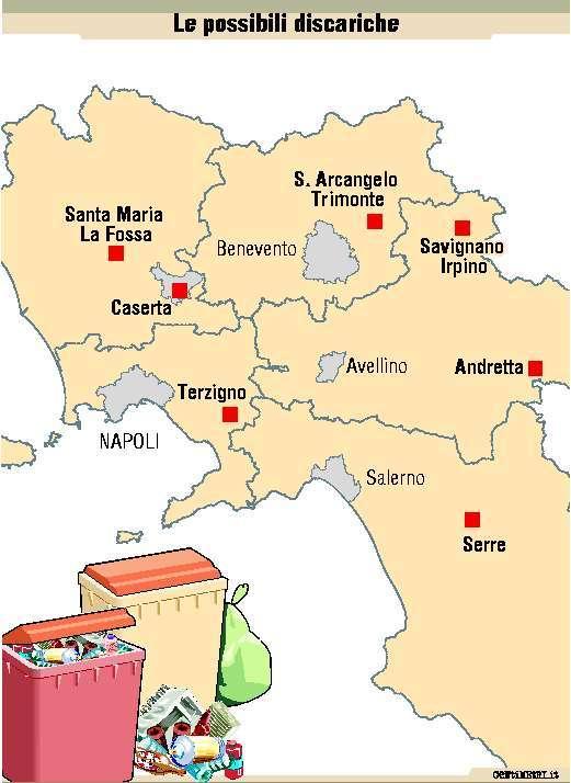 Mappa delle discariche