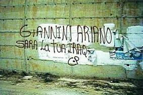 Scritte ad Ariano contro il generale Giannini