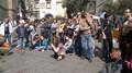 Prima iniziativa pubblica dell'iniziativa Compostiamoci Bene promossa dal CO.RE.ri. e dal MOA - Il pubblico nel cortile di Santa Chiara