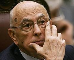 L´angoscia del Presidente Napolitano